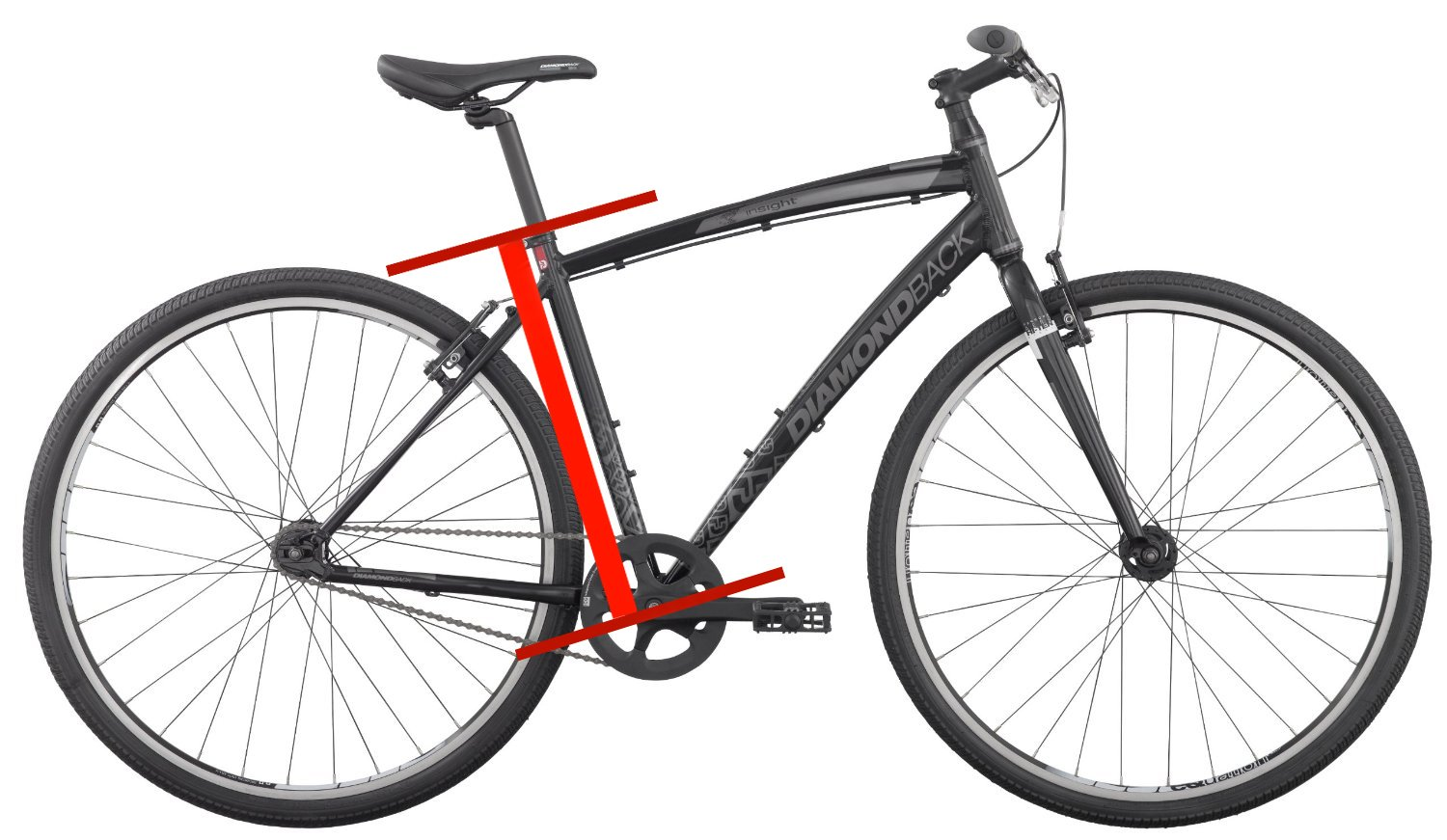 your height bike size hybrid bike size chart