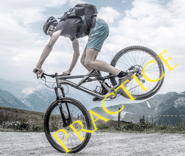 Practice biking