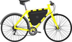 Bicycle With Frame & Seat Bag