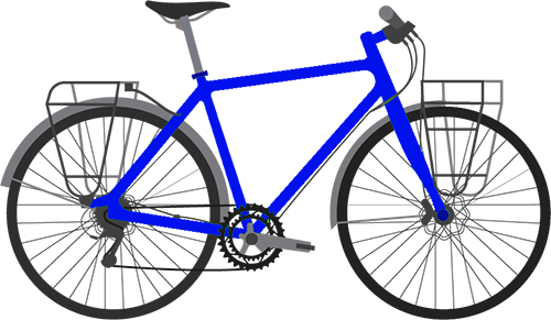 Bicycle with racks