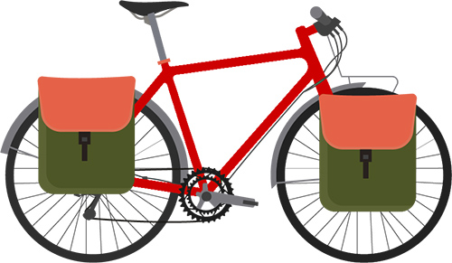 Using Bike carriers for trasportation