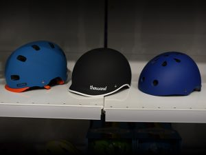 different bike helmets