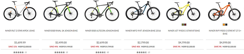 Niner Black Friday deals