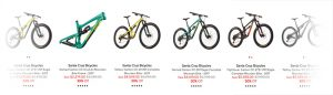 Santa Cruz mountain bikes sale