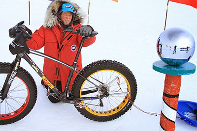 Daniel Burton on South Pole.