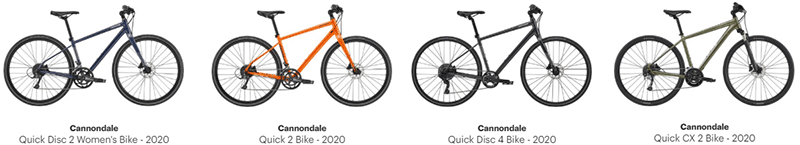 Cannondale Quick 2, Quick Disc 2 & Quick CX 2