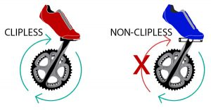 Clipless vs non clipless pedals