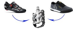 Dual or Double sided clipless pedals