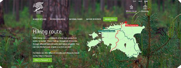 Cycling Trail Through Estonia