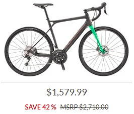 Discounted bike