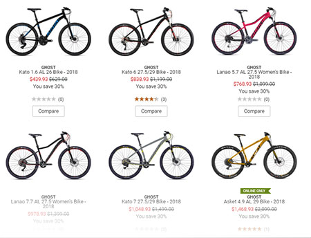 Ghost bikes from REI