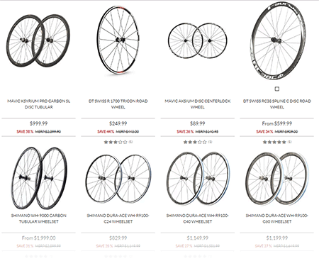 Road Bike wheels for Black Friday