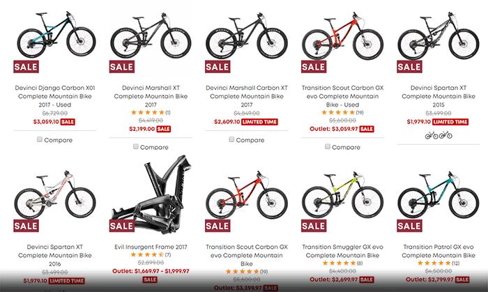 Women mountan bikes on evo for sale