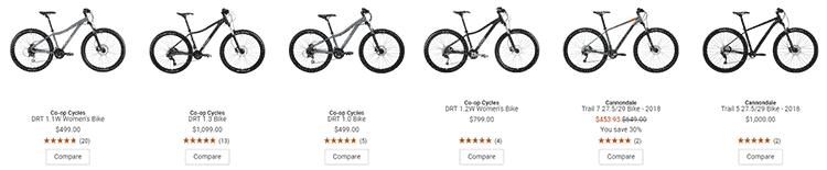 REI mountain bikes
