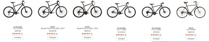 REI hybrid bikes