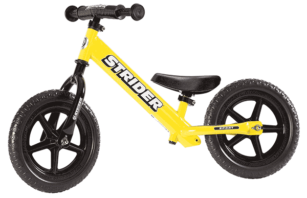 Strider Sport 12 in Yellow
