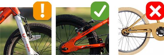 Kids bike brake tyhpes