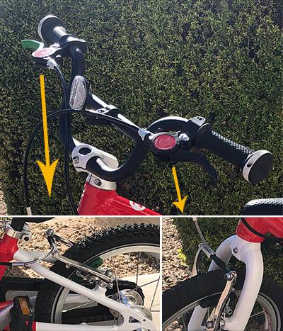 Woom 2 balance bike brakes