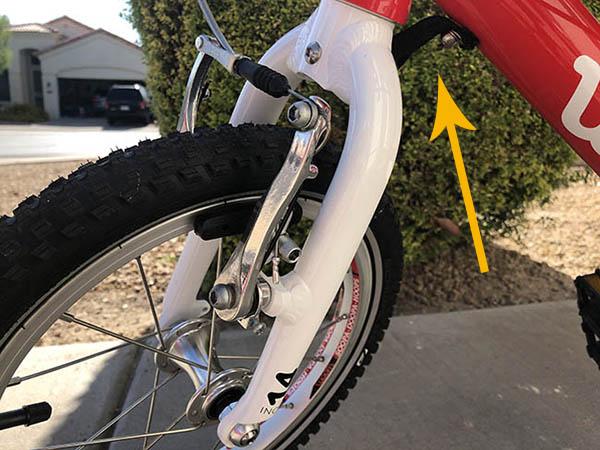Woom 2 steering limiter