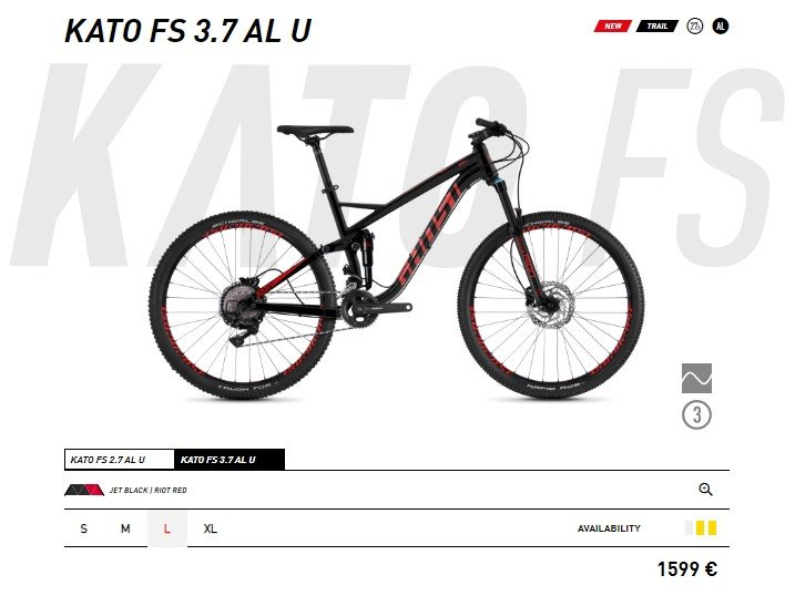 Kato FS 3.7 Full Suspension
