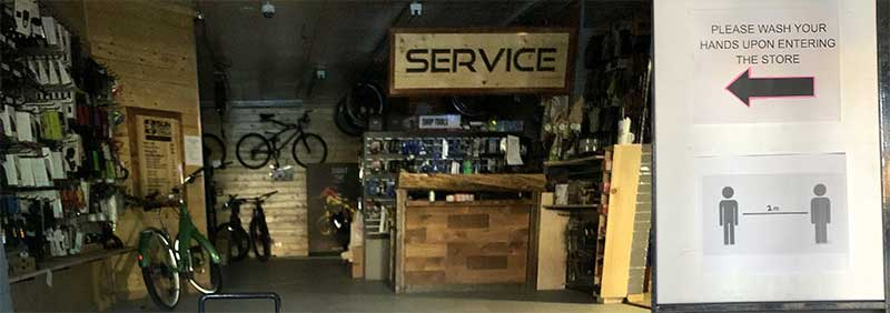 Sun Country Cycles Bike Shop in coronavirus