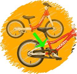 Balance bike to first pedal bike