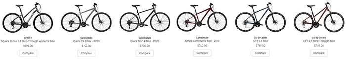 Hybrid Bikes on REI