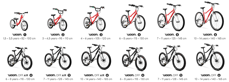 Woom bikes overview