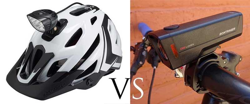 Helmet bike light vs handlebar bike light