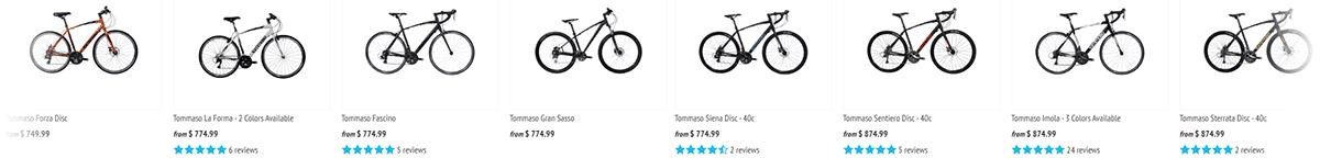 Tommaso Bikes selection
