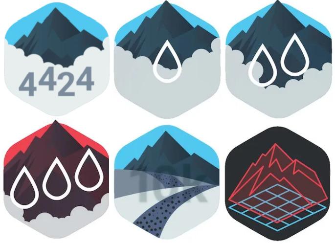 Everesting badges