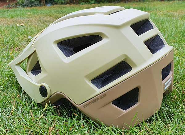 Bike helmet from rear