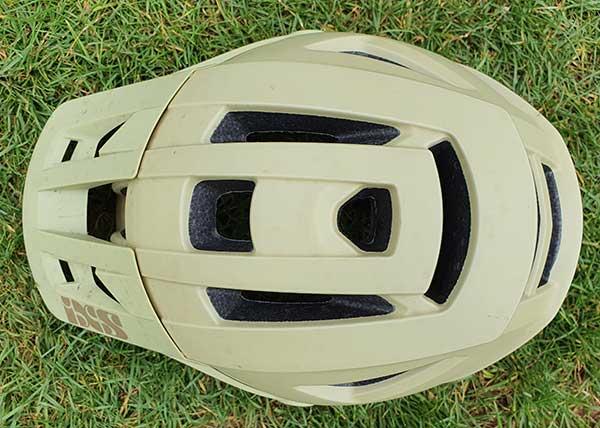 Bike helmet from top