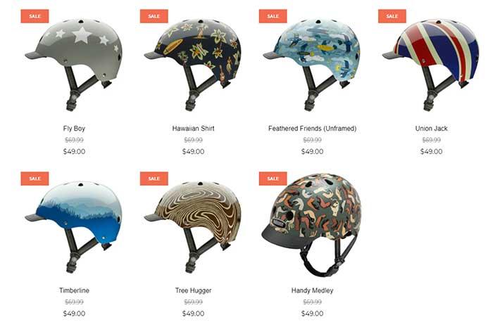 Nutcase bike helmets sale category