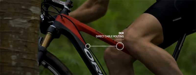 Direct bike cable routing