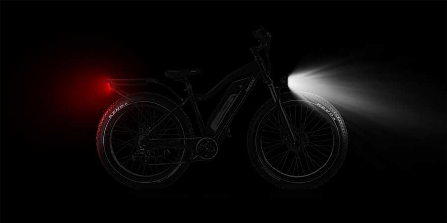 Himiway electric bike lights