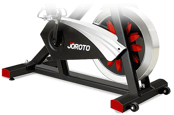 Stationary bike with magnetic resistange