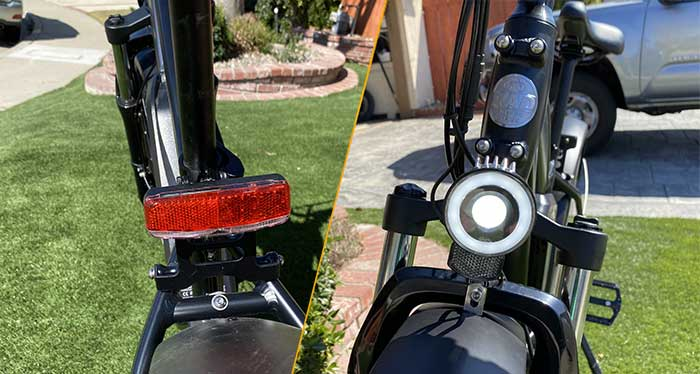 Rear and front light of a RadRover5