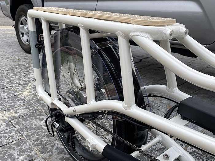 Radwagon rear rack and plastic quard