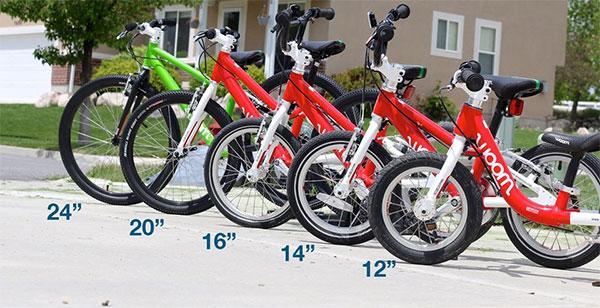 Kid's bikes wheel sizes