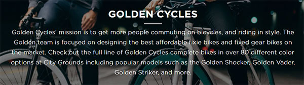 Golden Cycles overview