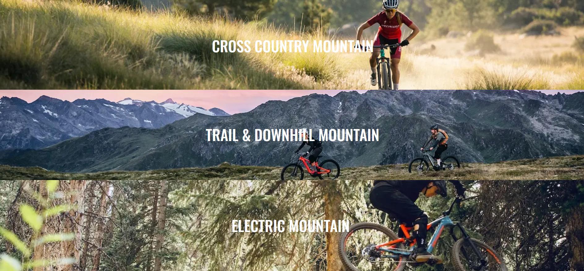 Mountain bikes selections