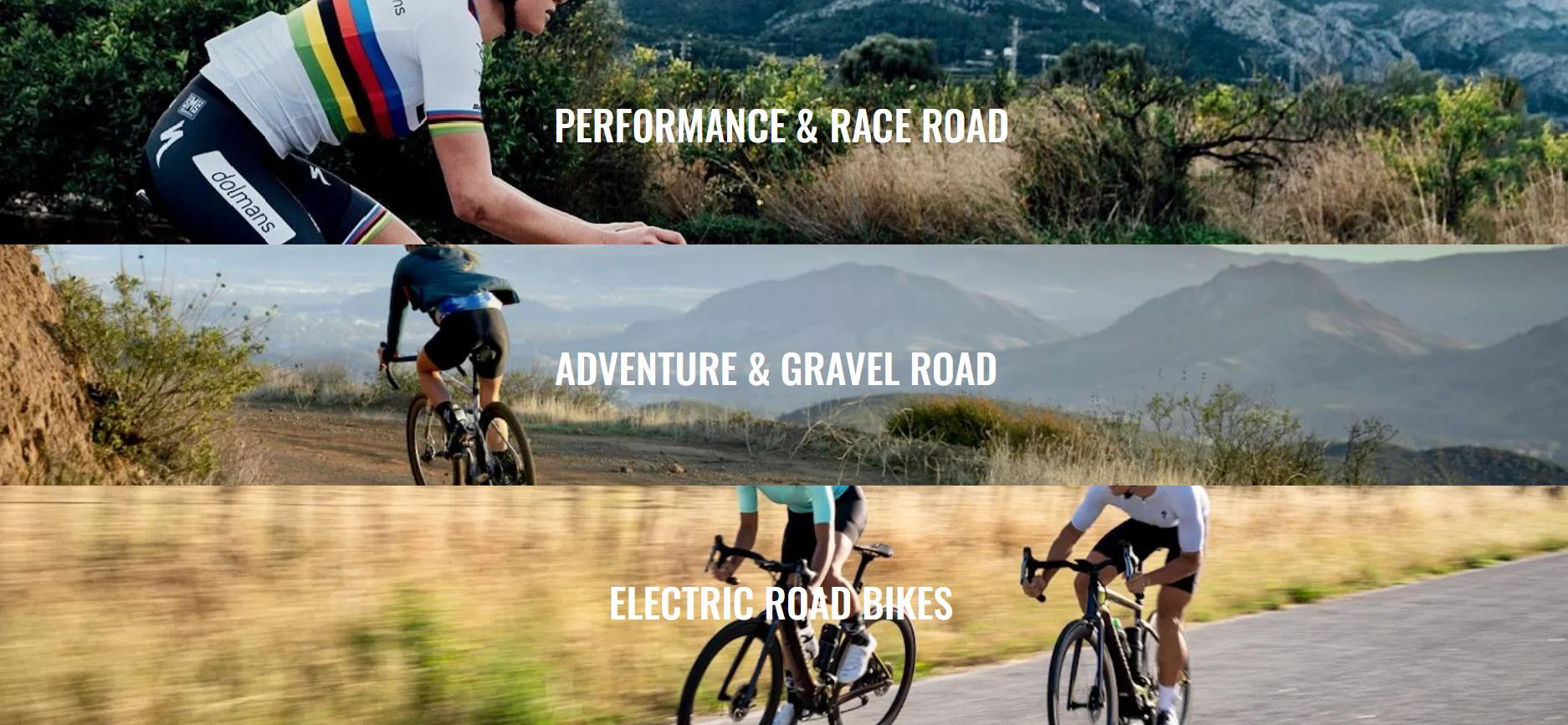 Mike's road bike categories