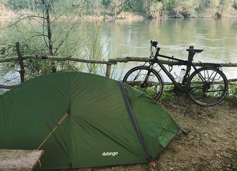 Bike and tent