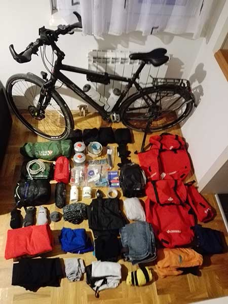 Bike Touring costs & check-list